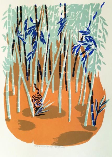 Cat in Kameoka´s Bamboo Forest