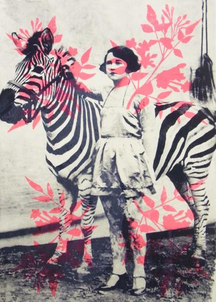 Zirkusdame mit Zebra - Adeline Meilliez